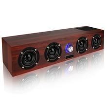 Беспроводной Bluetooth динамик 20 Вт Портативный Колонка громкоговоритель boom box TF FM радио Aux сабвуфер ТВ Саундбар для компьютера звуковая коробка