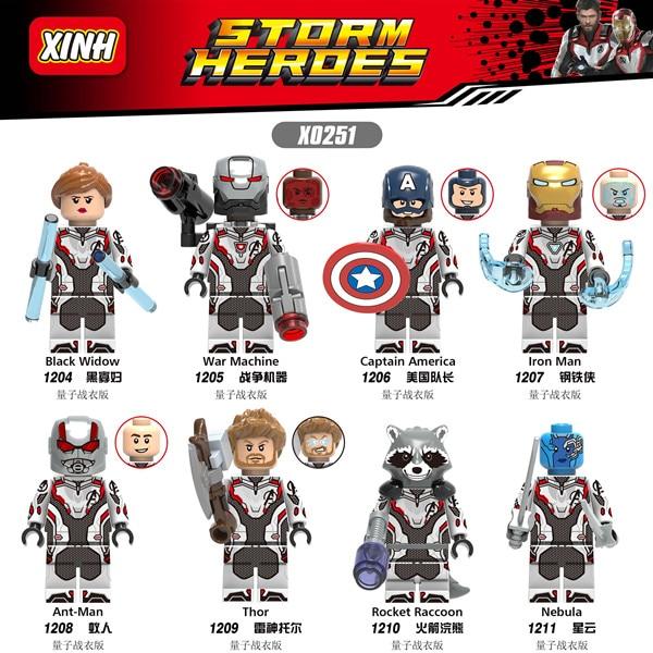 80pcs Building Blocks End Game Avengers 4 Talon Knightmare Harley Quinn Quantum suit Toys For Children