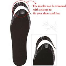 2018 Hot Sale men women Bamboo insoles Charcoal Deodorant Cushion Foot Inserts non-woven fabric Shoes Pads eliminate odor(China)