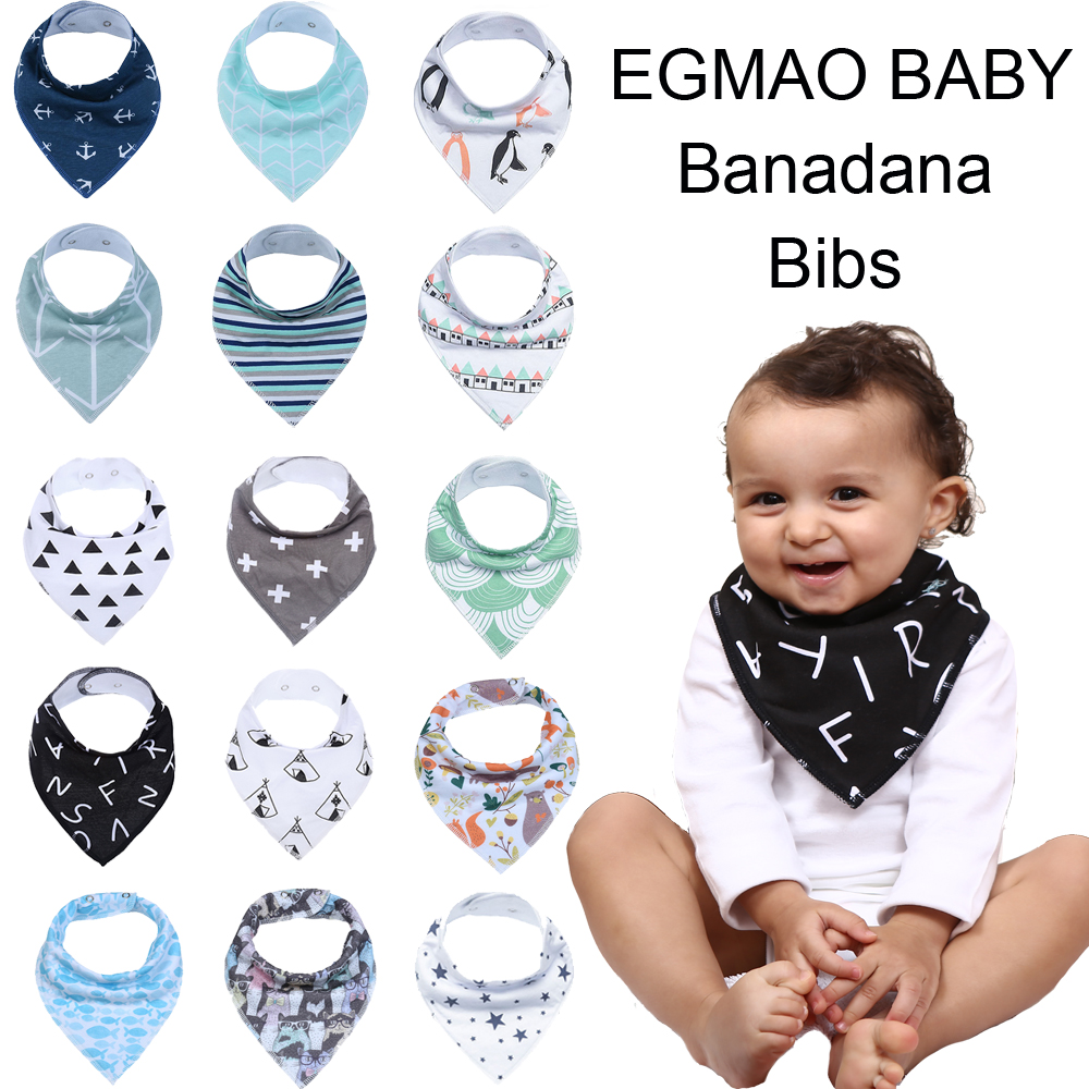 10 Styles Baby Bibs Baby Accessories Newborn Baby Burp Bandana Cotton Soft Toddler Triangle Scarf Infant Saliva Towel Baby Gift