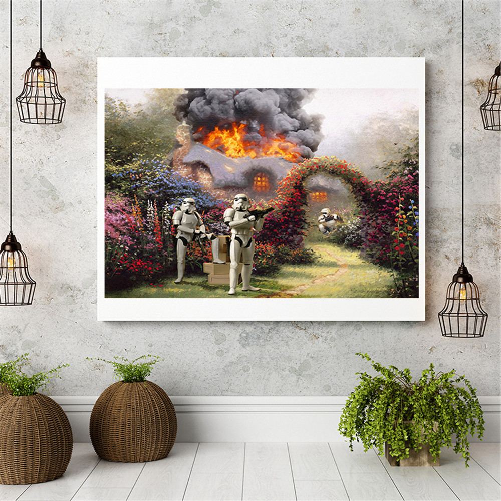 On Canvas Unframed Oil Painting Aggression War Huge Wall Art Room Decor Home Decoration Christmas Decoration for Home