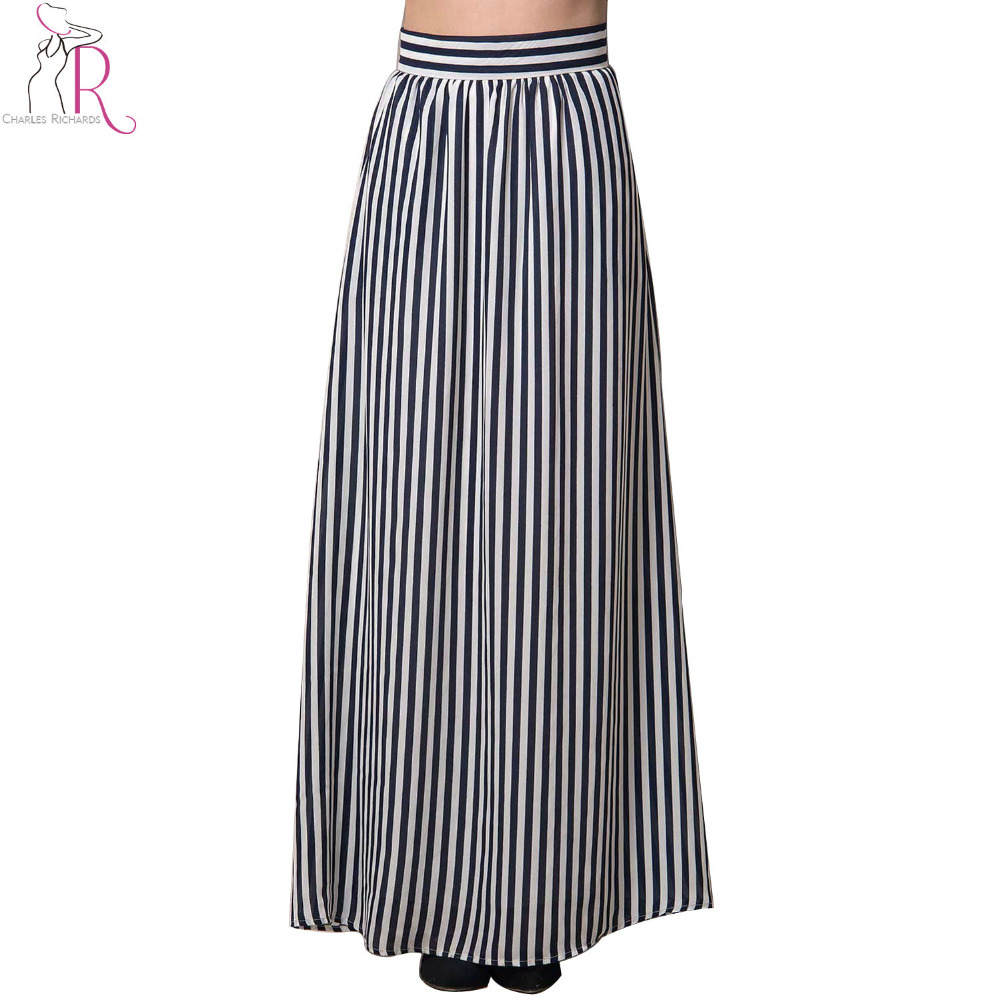 Long black and white striped skirt online shopping-the world ...