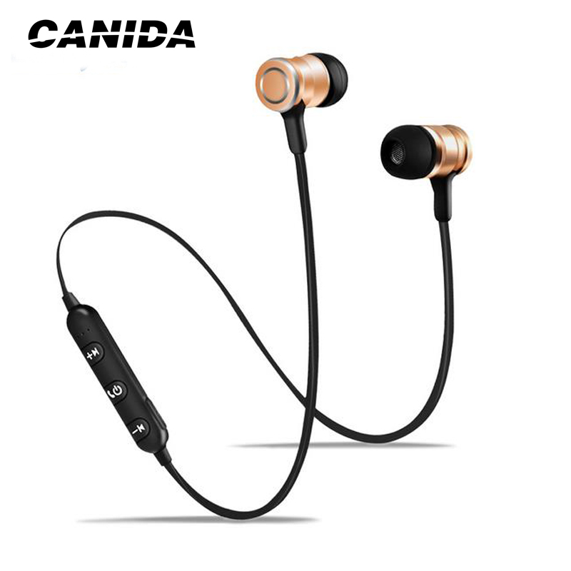 CANIDA Magnet Bluetooth Earphone Wireless Bluetooth Headset Sports Running Stereo Super Bass Earbuds With Mic for Mobile Phone