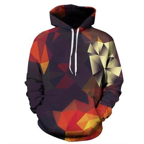 Offre spéciale vestes à capuche femmes 3d Sweatshirts imprimer diamant treillis unisexe mince pulls survêtements hauts sweat à capuche