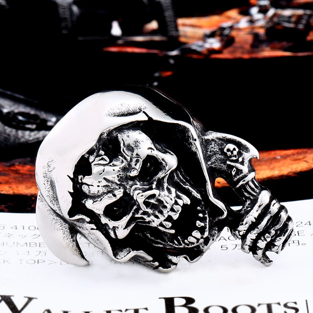 STAINLESS STEEL ZOMBIE SKULL RINGS