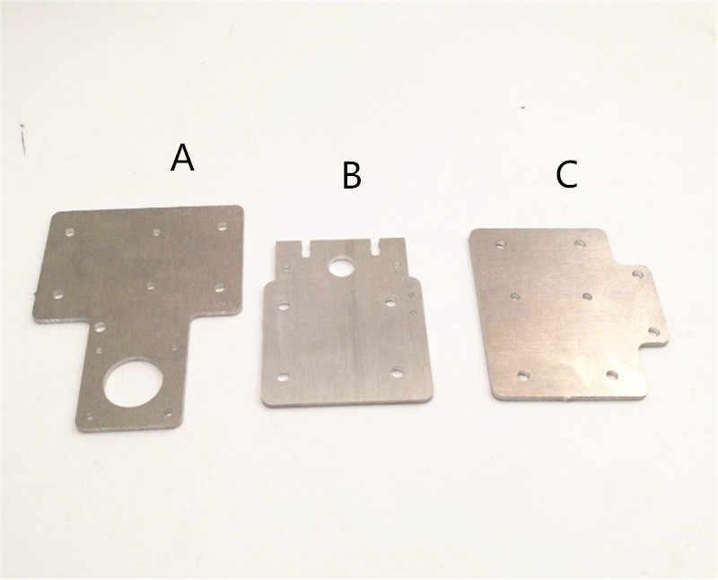 Funssor Flsun Prusa Aluminium X Kereta dan X Stepper Motor Mount/Idler Piring untuk Upgrade Flsun Prusa I3 3D bagian Printer