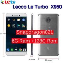 Original Letv LeEco RAM 6G ROM 128G X950 FDD 4G Cell Phone 5.5″ Inch Snapdragon 821 16MP 2camera Dolby samsung screen