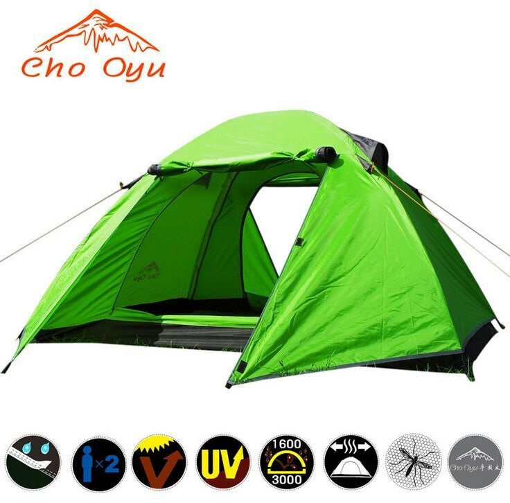 DHL free shipping 2 person Double layer winter tent Windproof snowproof Outdoor Camping hunting fishing Thick tent outdoor camping hiking automatic camping tent 4person double layer family tent sun shelter gazebo beach tent awning tourist tent