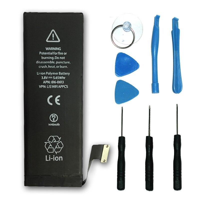 Più nuovo Sostituzione Della Batteria 3.8 V 1440 mAh Brand New Interno built-in Li-Ion Batteria per Apple iPhone 5 Batteria Spedizione gratuita #30