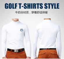 Authentic GOLF Clothing Men's Long Sleeve Shirts Bottoming T-shirts Warm Coat Quick Dry Whtie Plus Size