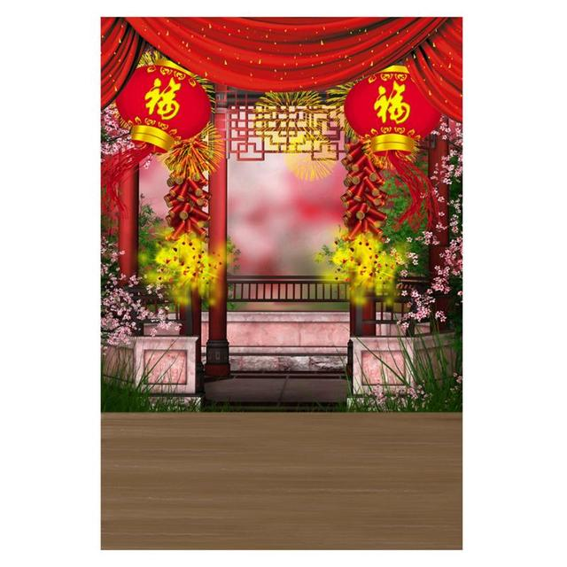 09x15m chinese new year theme background spring festival theme photo studio photography props