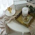 Nordic Metall Spitze Hohl Ablage Chic Ins Messing Obst Kuchen Dessert Platte Platz Retro Gold Schmuck Display Tray Home decor