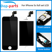 цены на 20Pcs Wholesale Full Set LCD For iPhone 5s LCD Display home button + front camera Touch Screen Digitizer Assembly Replacement  в интернет-магазинах