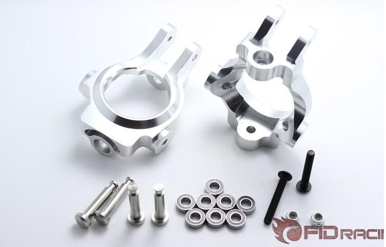 Aluminum FRONT HUB CASTOR BLOCKS For LOSI 5IVE T ROVAN LT KMX2