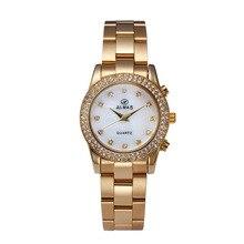 ALMAS de Aleación de Diamante Circular Prevención Vibración Reloj Resistente Al Agua Reloj de Cuarzo Reloj de Los Hombres y Mujeres de Negocios