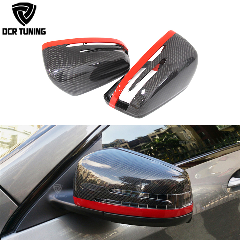 For Mercedes Carbon Mirror W204 W207 W212 W176 W218 W221 Carbon caps Mercedes A C CLS E CLA Class Carbon Fiber Mirror Cover 2x white canbus led door courtesy footwell vanity mirror trunk lights for mercedes w204 w212 w207 w221 w216 r230 w251 w164 w463
