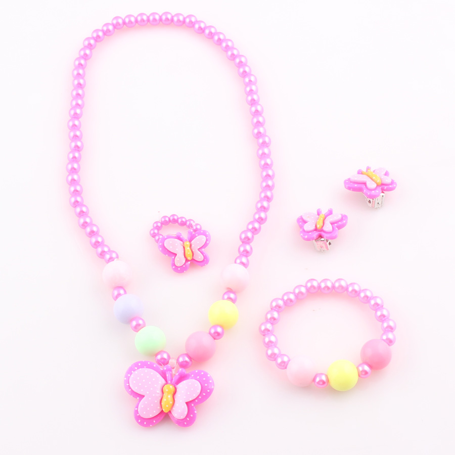 2017 New Trendy Fashion Children Pretty Butterfly Jewelry Sets ...