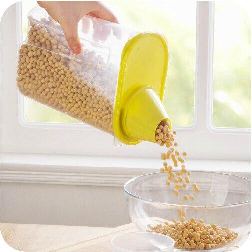 Storage-Box Vanzlife Canister Snack Sealed Food-Grade Transparent-Grains Plastic Sharp