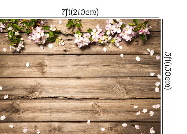Photo Background with Flowers Printed