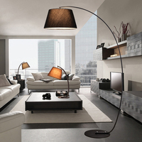 Nordic American modern simple living room sofa study bedroom atmosphere creative remote control vertical fishing floor lamp