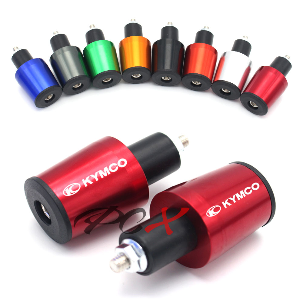 Motorcycle Accessories CNC Aluminum 7/8'' 22MM Handlebar Grips Handle Bar Cap End Plugs For KYMCO DownTown 300i/350i/K-XCT 300 image