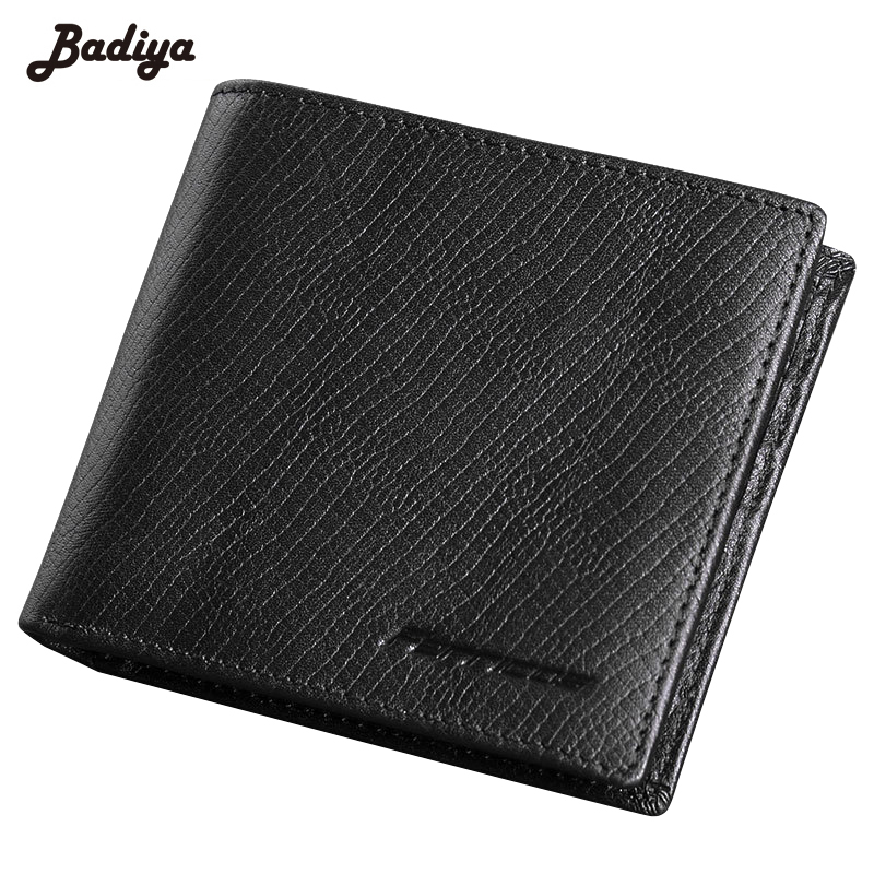 Genuine Leather Business Cowhide Solid Wallets for Men Bifold Brief Short Purse Walet Money Bag Male Credit Card Holder Carteira