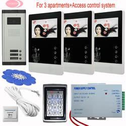 Монитор видеодомофон дверной звонок 4,3 дюймов цветной видеодомофон домофон системы жилой безопасности 3 клавиши домофон