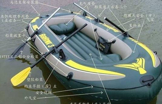 free shipping Rubber boats, inflatable boat INTEX-68349- 3 people, air compressor + aluminum paste Can installed motor!