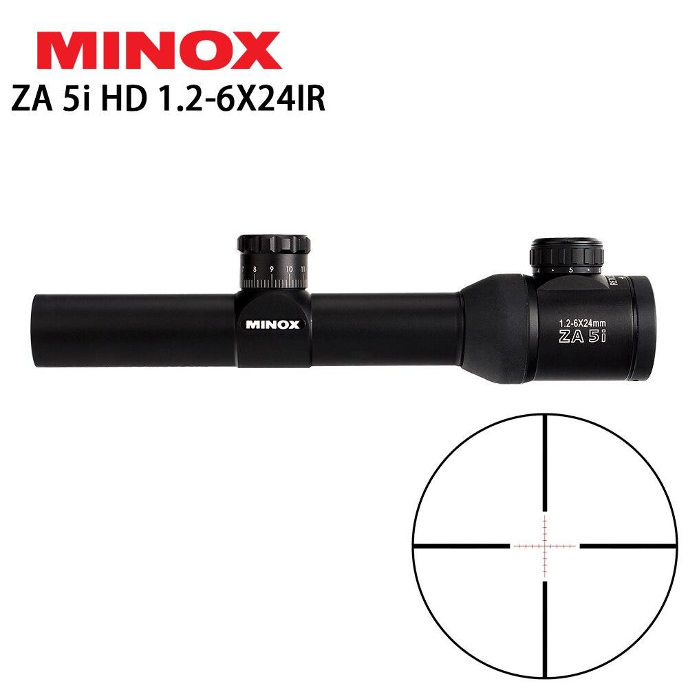 MINOX ZA 5i HD 1.2-6X24 IR Compacte Portée De Fusil De Chasse Gravé En Verre Réticule Illuminé Oculaire soulagement Vue Lunettes De Visée