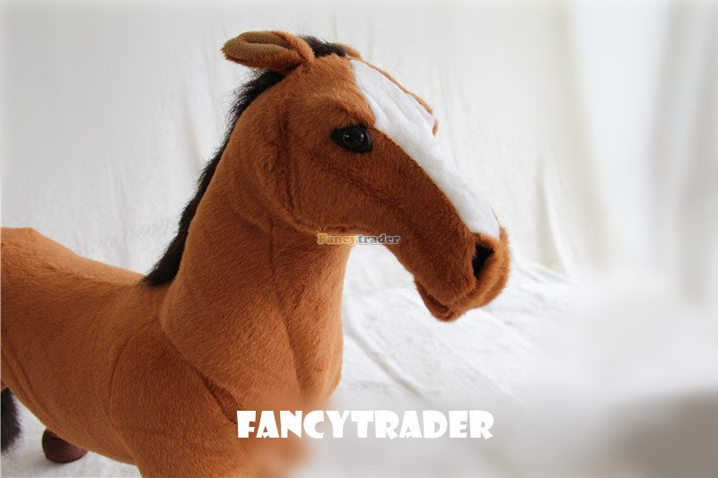 Fancytrader As Real! 43\'\' 110cm Giant Soft Plush Stuffed Emulational Horse, Free Shipping FT90281 (2)