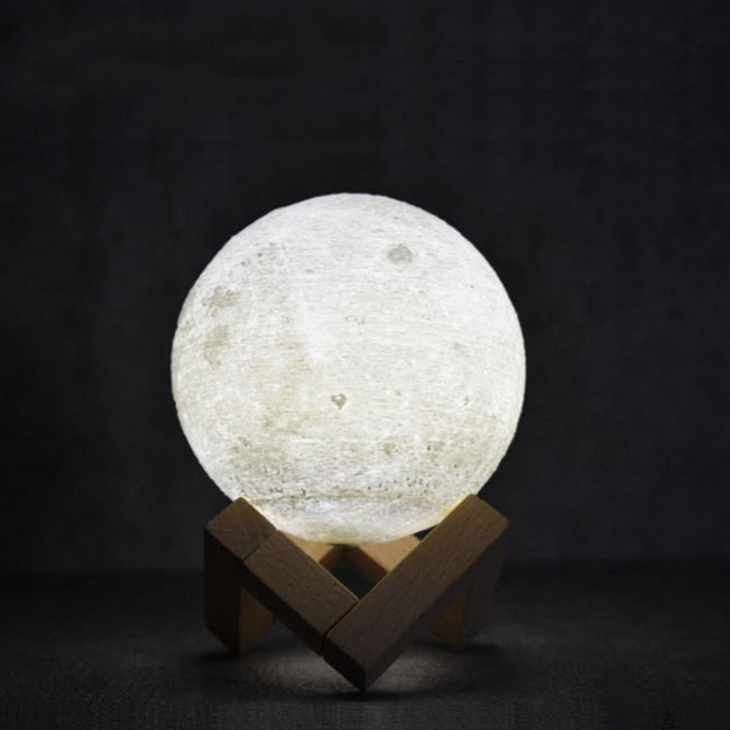 Led Night Moon Lamp USB Rechargeable 3D Print Moon Table Lamp 2 Color Change Touch Switch For Bedroom Bookcase Decor Night Light led night light 7 color changing touch switch bedroom bookcase beside lamp portable for bedroom living room or camping