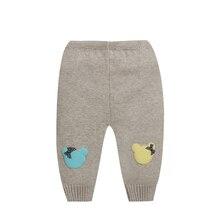 Плотные теплые хлопковые Мягкие штаны для малышей трикотажные брюки с эластичной резинкой на талии повседневные мягкие удобные штаны для мальчиков и девочек AA12202