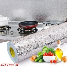 40 X 100 CM Oil-proof Aluminum Foil Sticker Wallpaper
