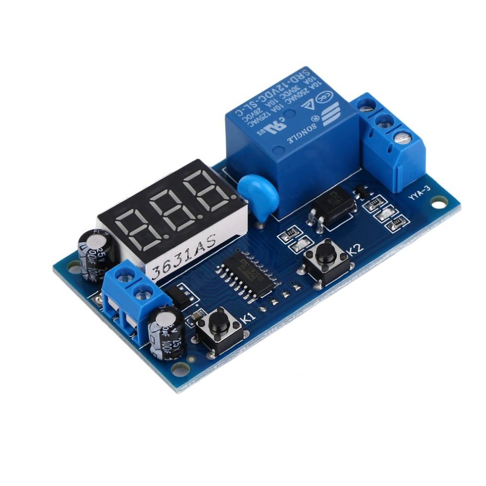 Dc 12v Digital Display Trigger Cycle Time Delay Relay Module Board Semiconductors And Electronics In An Easy To Understand Free Shipping