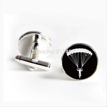 2017 Free Shipping Skydiver Cufflinks Parachutist Cuff link Skydiving Cufflink Men Cufflinks High Quality(China)