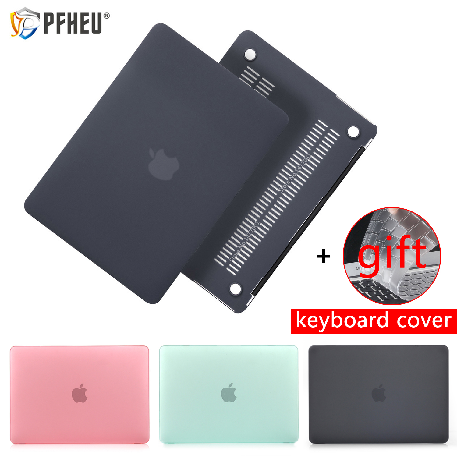 New Laptop Case For Apple MacBook Air Pro Retina 11 12 13 15 for mac book 13.3 inch with Touch Bar Sleeve Shell + Keyboard Cover