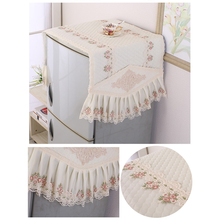 Household Refrigerator Dust Cover Lace Cloth Refrigerator Cover Sets Kitchen Washing Machine Cover Home Decoration Supplies цена