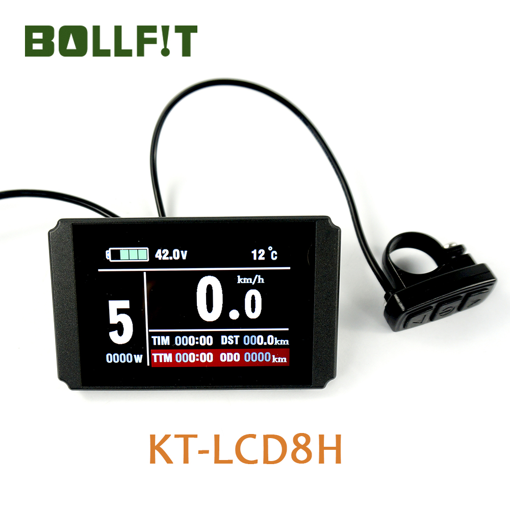 BOLLFIT Kunteng KT LCD8H display Electric Bicycle Accessories LC8U TFT Display for Electrice Bike kit