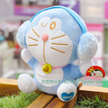 Movie & TV Doraemon Stuffed plush 16cm doraemon with headset design toy doll great  gift  free shipping w143