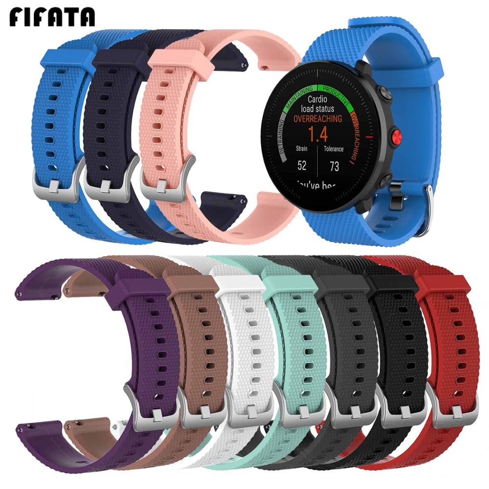 FIFATA Silicone Watch Band For Polar Vantage M Sport Strap Replacement Wristband Bracelet Band For Samsung Galaxy Watch 46mm