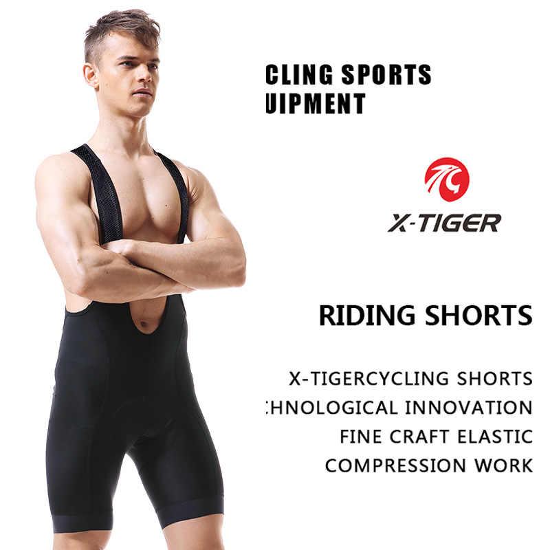 X-TIGER Pro Rennen Radfahren Bib Shorts Mit 5cm Italien Greifer Leichte Bib Hose Hohe-Dichte 5D GEL Pad für Lange Zeit Fahrt
