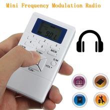 Personal portátil mini Radio de Bolsillo Delgado Pantalla Digital Con Pilas de Mano FM envío Receptor de Radio con el Auricular