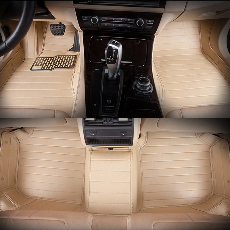 5seats RHD full surrounded waterproof non slip car floor mats for Sunny right hand drive right steering wheel