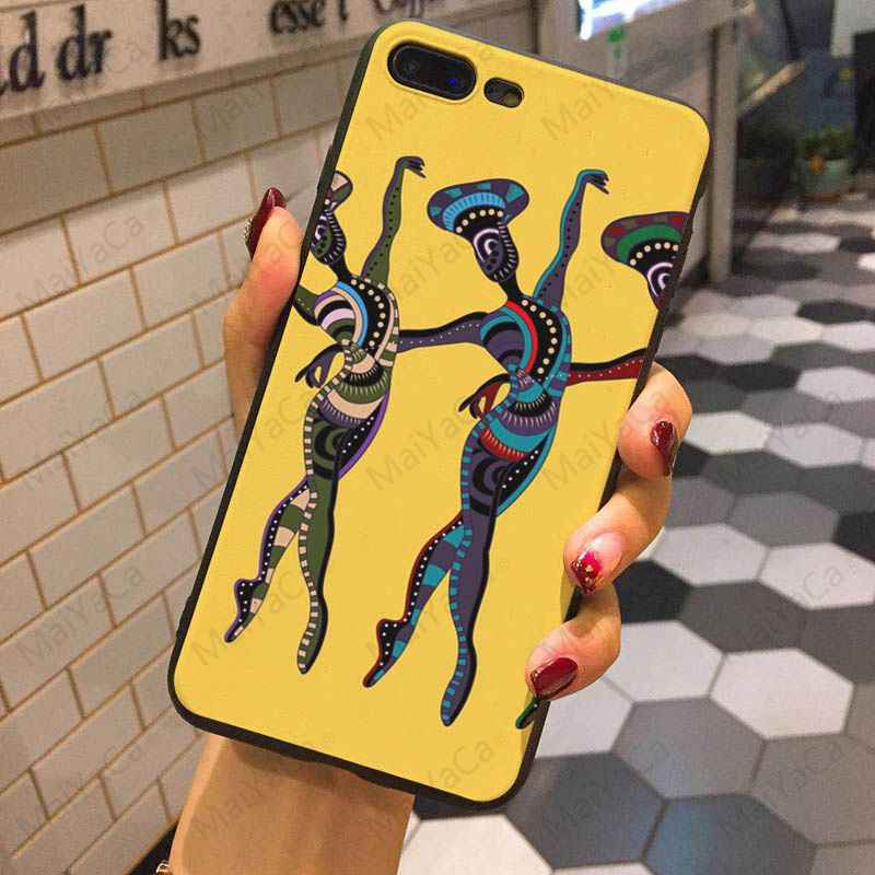 MaiYaCa ילידי אפריקה נשים ריקוד צבוע כיסוי סגנון עיצוב טלפון סלולרי מקרה עבור iphone 7 7 בתוספת X 8 8 בתוספת 6s 6 6 בתוספת 5 5S 5c