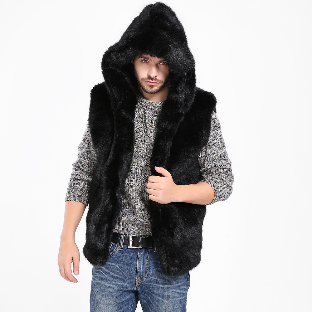 6923502576a Buy fur sleeveless jacket men and get free shipping on AliExpress.com