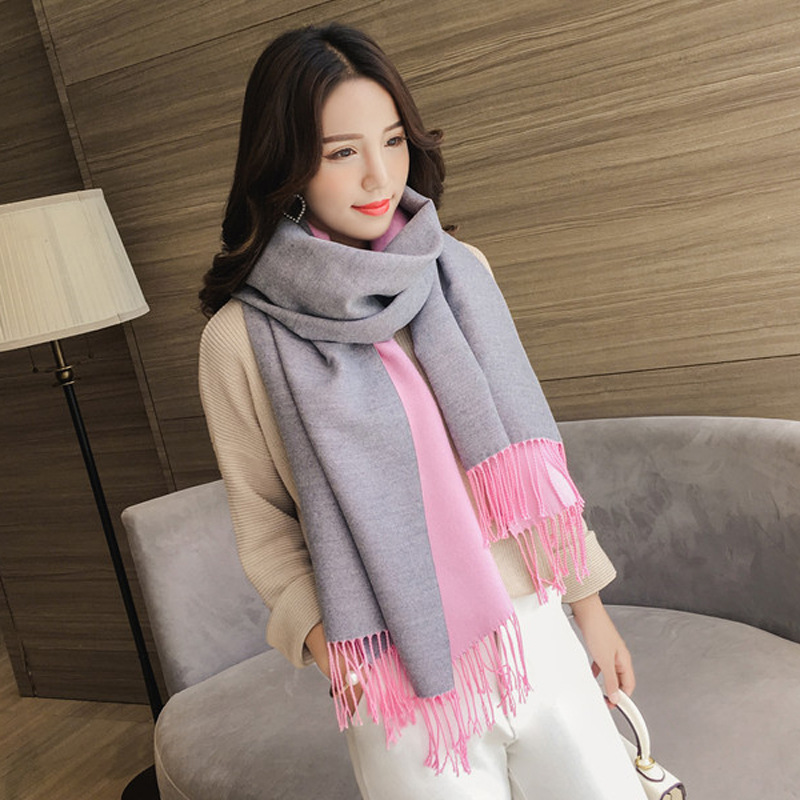 8db56ac2c 2018 Winter Scarf for Women Cashmere Scarves Shawls Soft Scarf for Women  Wool Pashmina Winter Warm