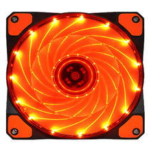 15 diodo emissor de luz bastante 120mm dc 12 v 4pin computador caso refrigerar fresco ventilador mod 6m3 transporte da gota