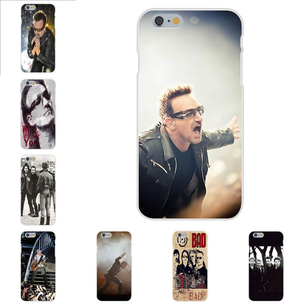 U2 Band 360 For Apple iPhone 4 4S 5 5C 5S SE 6 6S 7 8 Plus X XS Max XR Soft Phone Cases image