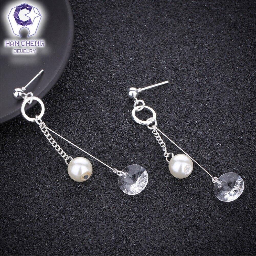 HanCheng New Fashion Silver Plated Nail Dangle Hanging Gem Stone ...