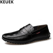 Spring Autumn Men Flats Genuine leather Breathable Loafers Fashion Slip-On Boat shoes British style Male Driving shoes 3A стоимость